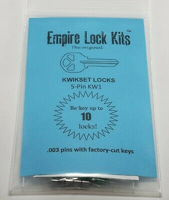 Kwikset Lock Rekey Kit Rekey Up To 8 Locks Bottom Rekeying Pins Factory Cut Keys