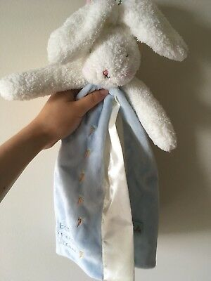Bunnies By the Bay Bud Bunny Blanket Blue
