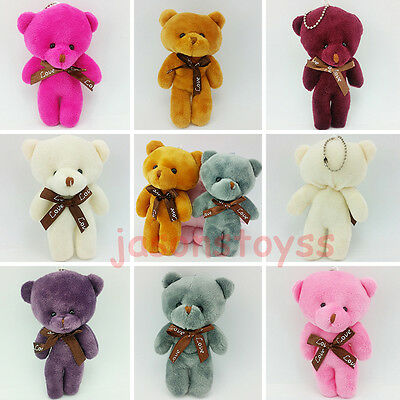 5'' Lovely Bear Cute Stuffed Teddy Plush Doll Toy Key Clip Xmas Birthday Gift