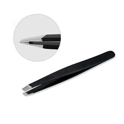Professional Eyebrow Tweezers Hair Beauty Slanted Stainless Steel Tweezer Tool ,