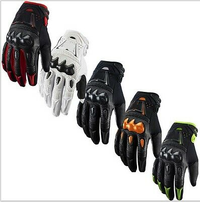 NEW Carbon Bomber Motocross Motorcycle Cycling Riding Bike Racing Gloves Size