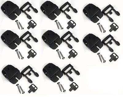 8pcs Spa Hot Tub Cover Broken Latch Repair Kit Clip Lock with key and hardware