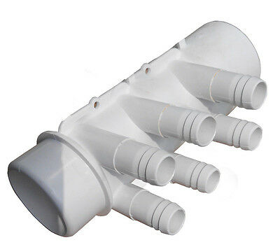 "Manifold water Hot Tub Spa Part 2"" Slip X 2"" Spg x (6) 3/4"" Slip Ports"