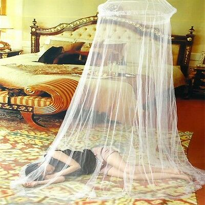 White Elegant Round Lace Insect Bed Canopy Netting Curtain Dome Mosquito Net HS