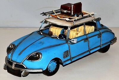 Auto Citroen DS um 1955 Blechauto Blechmodell Tin Model Vintage Car 30 cm 37371