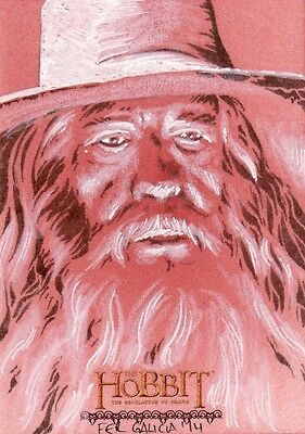 "The Hobbit Desolation of Smaug Fer Galicia ""Gandalf"" Sketch Card"