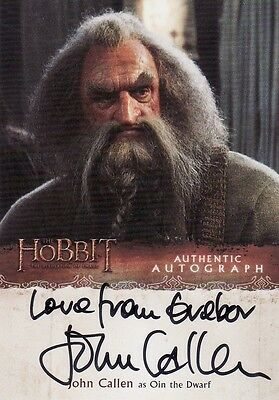 The Hobbit Desolation of Smaug John Callen as Oin the Dwarf Variant Auto Card a