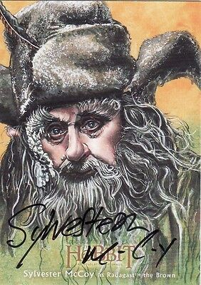 The Hobbit Desolation of Smaug Sylvester McCoy Illustration Auto Card 20/25