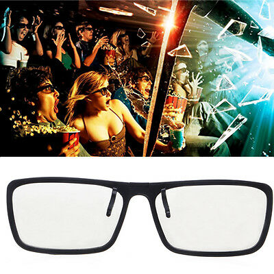 Circular 3D Clip-On Type Passive Polarized Glasses For TV Real 3D Cinema 0.22mm