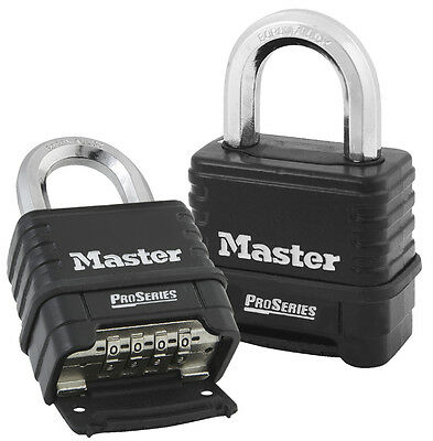 Master Lock - Pro Series Heavy Duty Combination Padlock - Outdoor Security 1178D