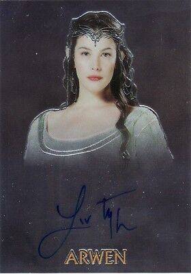 Lord of the Rings Trilogy Liv Tyler as Arwen Auto Card LotR