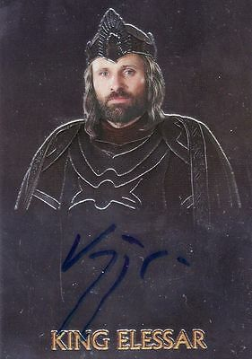 Lord of the Rings Trilogy Viggo Mortensen as King Elessar Auto Card LotR