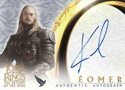 Lord of the Rings Return of the King Karl Urban as Eomer Auto Card LotR