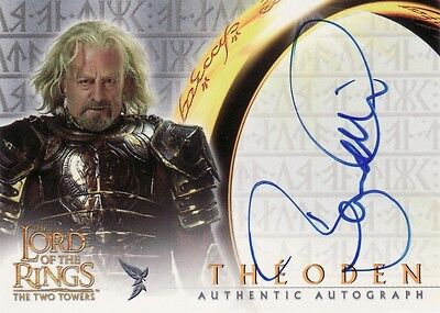 Lord of the Rings The Two Towers Bernard Hill as Theoden Auto Card LotR