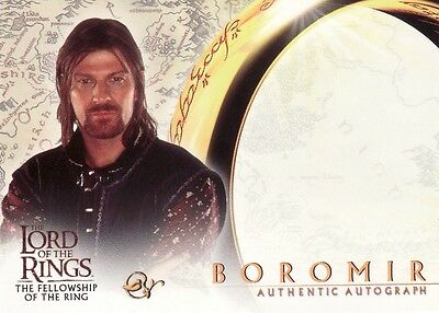 Lord of the Rings Fellowship of the Ring Sean Bean as Boromir Unsigned Auto Card