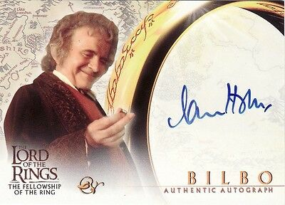Lord of the Rings Fellowship of the Ring Ian Holm as Bilbo Auto Card LotR