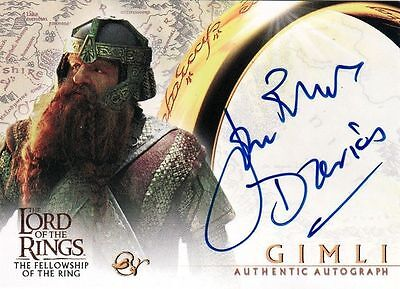 Lord of the Rings Fellowship of the Ring John Rhys Davies as Gimli Auto Card