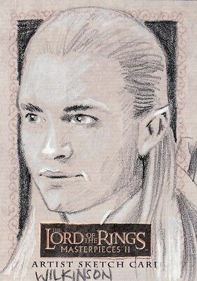 Topps Lord of the Rings Masterpieces II Sarah Wilkinson /  Legolas Sketch Card
