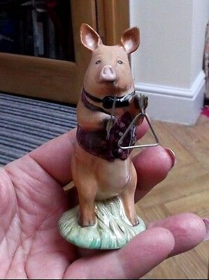 Beswick Pottery - Pig Band Figure - James The Triangle Player -