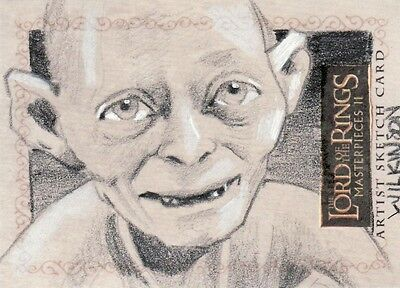 Topps Lord of the Rings Masterpieces II Sarah Wilkinson /  Gollum Sketch Card