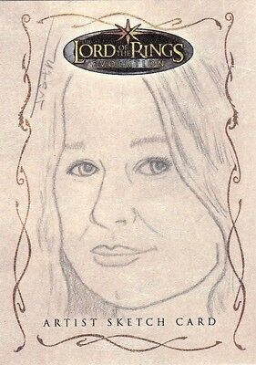 Topps Lord of the Rings Evolution Justin Chung / Eowyn Sketch Card LotR