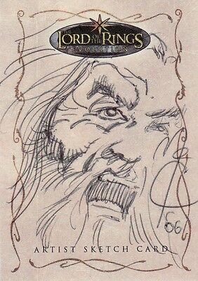 Topps Lord of the Rings Evolution John McCrea / Saruman Sketch Card LotR