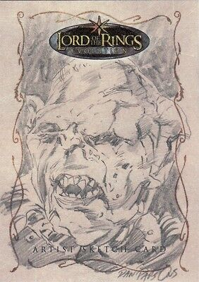 Topps Lord of the Rings Evolution Dan Parsons / Gorbag Sketch Card LotR