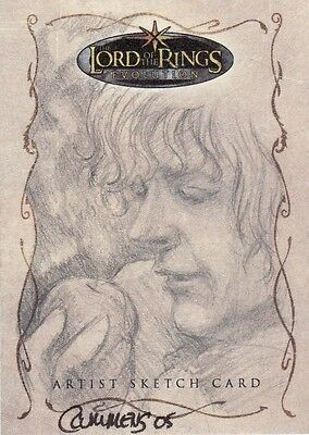 Topps Lord of the Rings Evolution Cynthia Cummens / Pippin Sketch Card LotR