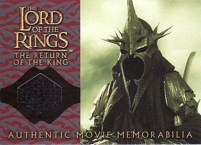 Lord of the Rings Return of the King The Witch-King's Cloak Costume Card LotR