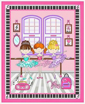 Bella-Rina Quilt Panel * Dance Class Girls * In Stock * Free Post * Cute *