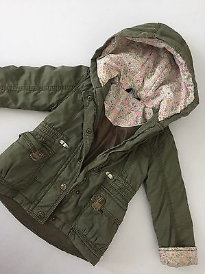 George Green Khaki Parka Jacket Age 18-24 Months Baby Girls