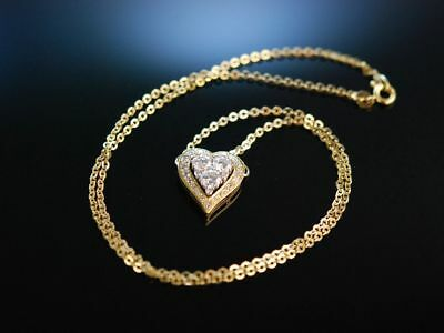 Exquisite Diamond Heart Necklace! Edles Herz Collier Brillanten 1,9 Ct Gold 750