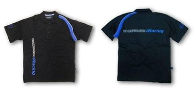 Mens Volkswagen R Racing Collection Black Blue Polo T Shirt- Genuine Merchandise