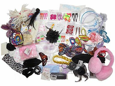 Wholesale Joblot Hair Accessories Clips Sleepies Headbands Bows 30-50 Pieces