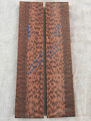Snakewood guitar bridge blank / large bookmatched knife scale sets SPECIAL GRADE