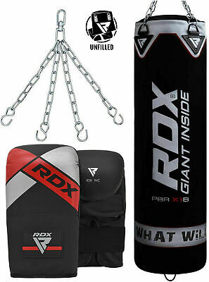 RDX Heavy Boxing Speed Punching Bag Set Training Dual Station Kit Unfilled Glove