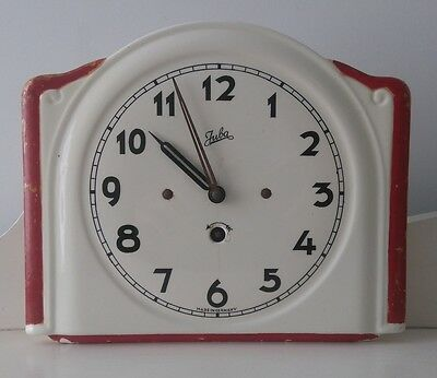 Vintage Ceramic Wall Clock Made In Germany