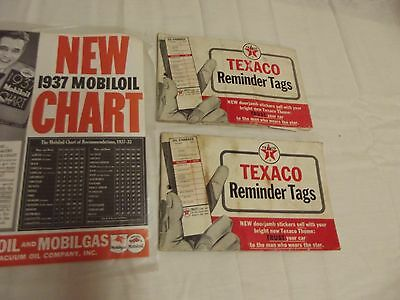 Original 1960s Texaco Oil Change Reminder Tags Booklet Vintage Texaco