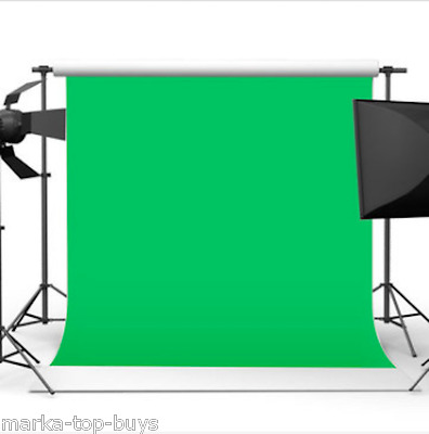 10x10ft 3x3m Chromakey Green Screen Muslin Backdrop Photography Background
