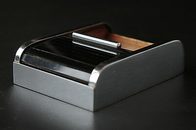 Carl Auböck Roll-Top, Merchandise, Art Deco (Nickel Plated) Cigarette Box, 1930