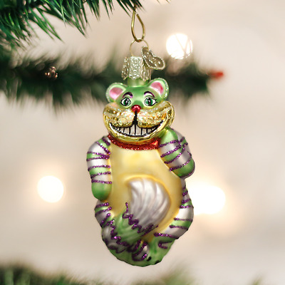 12052 Cheshire Cat Glass Ornament Old World Christmas Alice in Wonderland