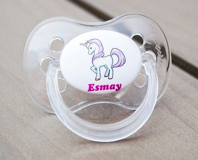 ALL TEATS,SIZES /& COLOURS PERSONALISED DUMMY PACIFIER SOOTHER DINOSAUR