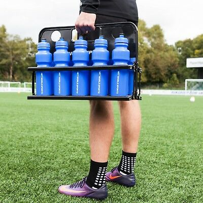 10 Sports Drinks Bottles & Foldable Water Bottle Carrier [Net World Sports]