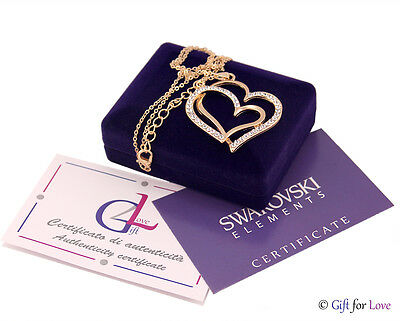 Collana donna oro Swarovski Elements originale G4Love strass cristalli cuore