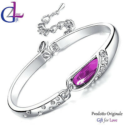 Bracciale donna argento Swarovski Elements originale G4Love cristallo strass