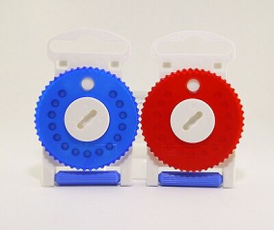 HF3 Wax Filter Siemens, Resound HF3 Wax Guard Red/Blue (Dial of 15 wax traps)