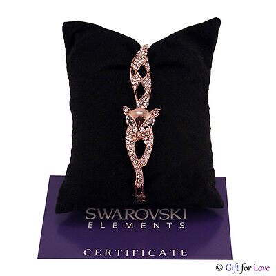 Fashion Jewelry Bracelets Bracciale Donna Swarovski Element Originale G4love Cristalli Strass Pelle Regalo