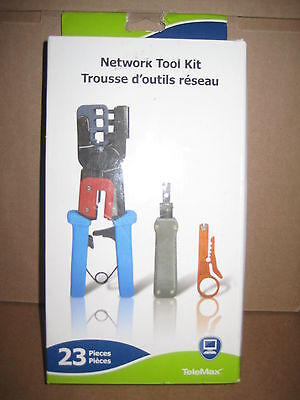 Telemax 23 Piece Network Cabling Tool Kit (TXCRIMPKIT)