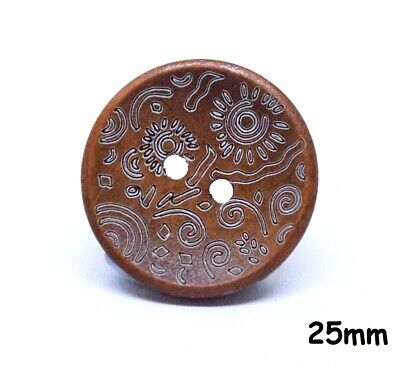 10 Colourful Large Umbrella Sewing BU1057 Craft Wooden Buttons Kids