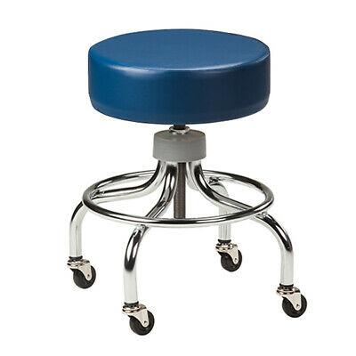Clinton Chrome Base Medical Exam Stool Foot Rest (18 colors)